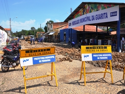 Iniciam as obras de recuperação poliédrica no mercado da Guarita