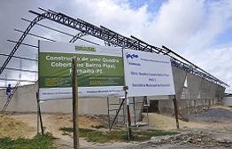 Obras do ginásio esportivo no bairro Piaiuí avançam para colocação do piso e cobertura