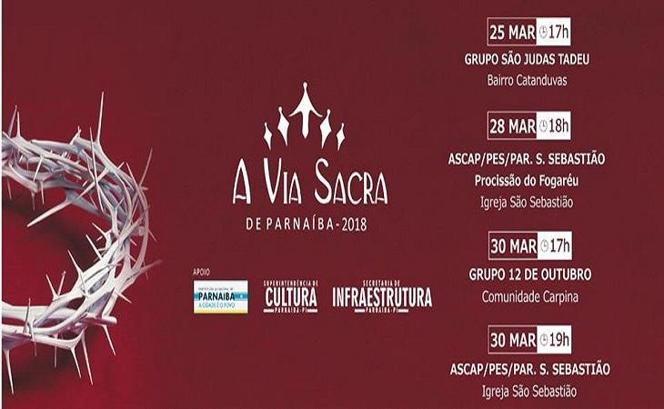 A Via Sacra de Parnaíba: Confira a programação de espetáculos pela cidade