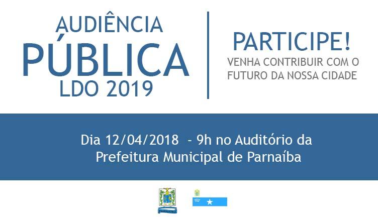 Convite – Audiência Pública LDO 2019