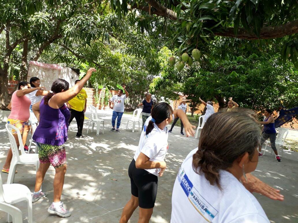 Capoterapia grupo Idoso Feliz CRAS Baixa da Carnaúba