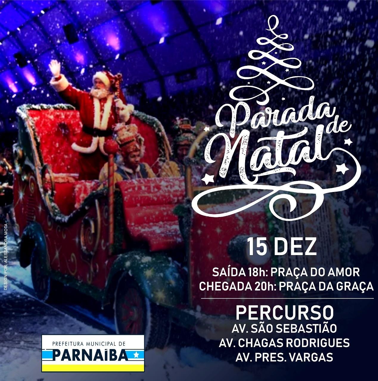 Acompanhe a Programação Especial de Natal da Prefeitura de Parnaíba