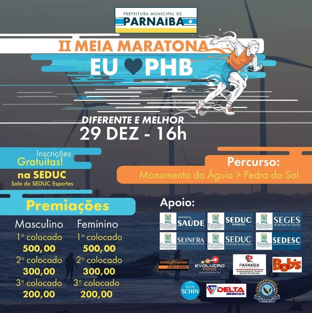 Iniciadas hoje inscrições para a II Meia Maratona promovida pela Prefeitura de Parnaíba