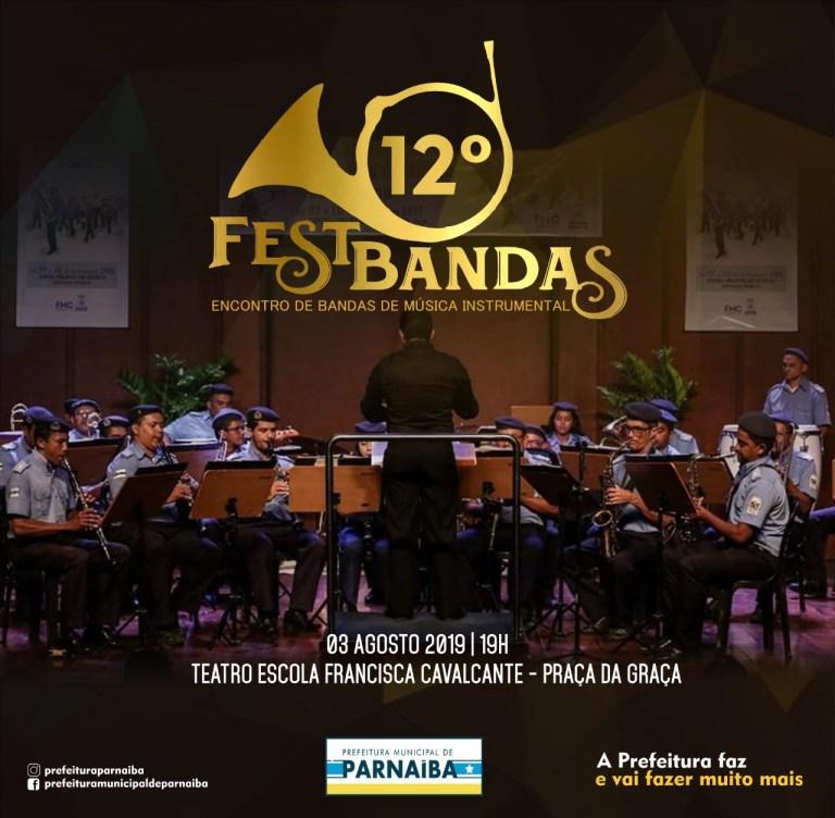 Festival de Bandas acontece neste sábado (3) no Teatro Municipal