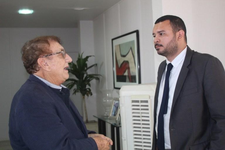 Mão Santa se reúne com novo Superintendente do Patrimônio da União no Piauí