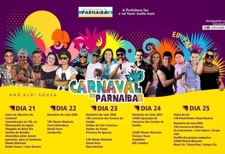 O melhor do carnaval 2020 no litoral será em Parnaíba