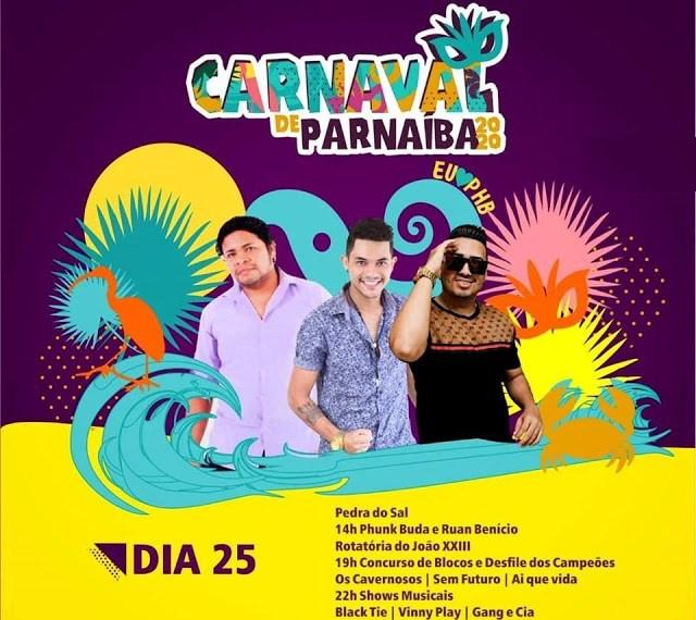 Acompanhe a programação do último dia do Carnaval 2020 de Parnaíba