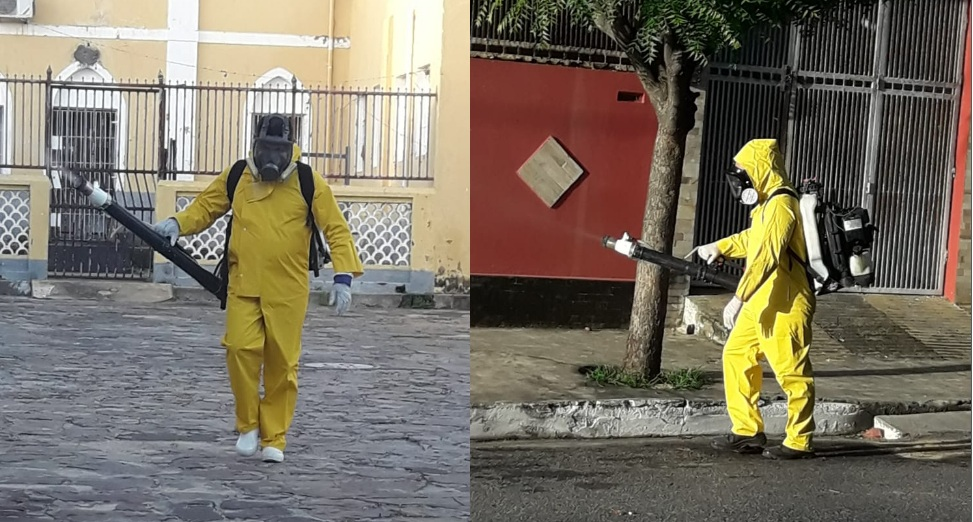 Vigilância Ambiental desinfecta mercados e borrifa ruas de Parnaíba no combate ao mosquito da dengue