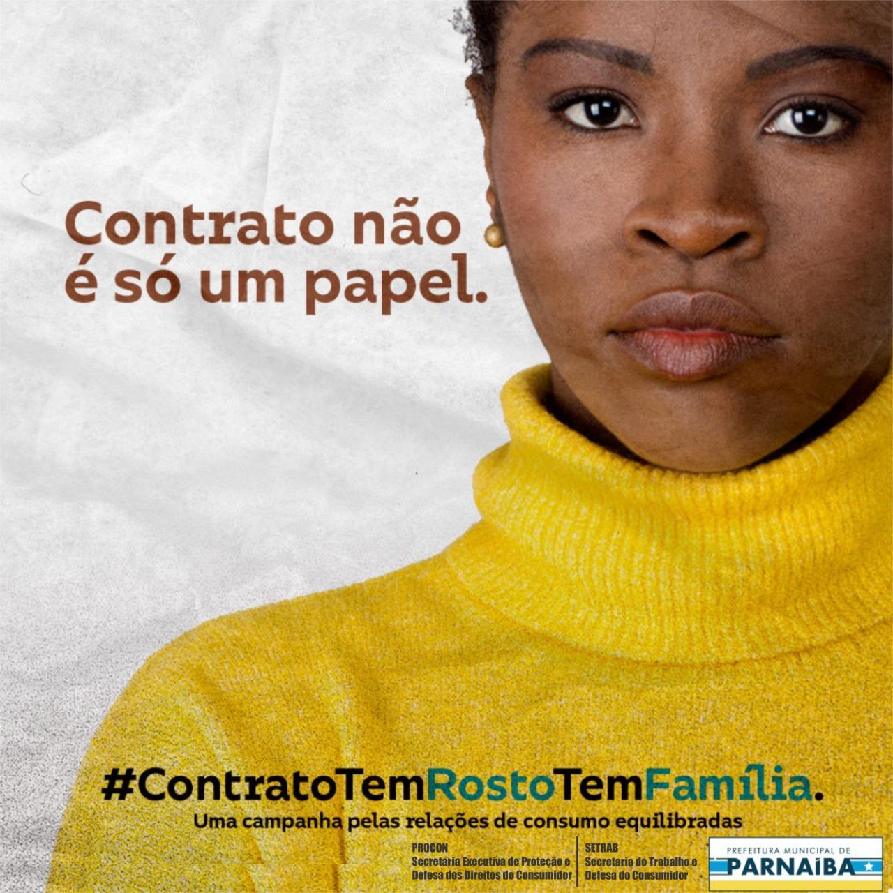 """Procon Municipal de Parnaíba adere à campanha """"Contrato não é Papel, Contrato tem Rosto"""""""