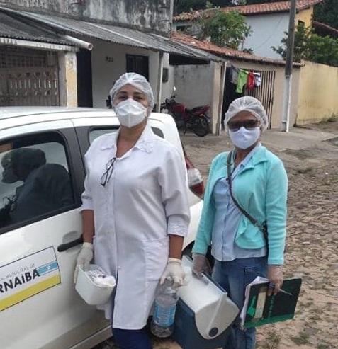 Prefeitura de Parnaíba garante vacinação de acamados e idosos com limitação de mobilidade