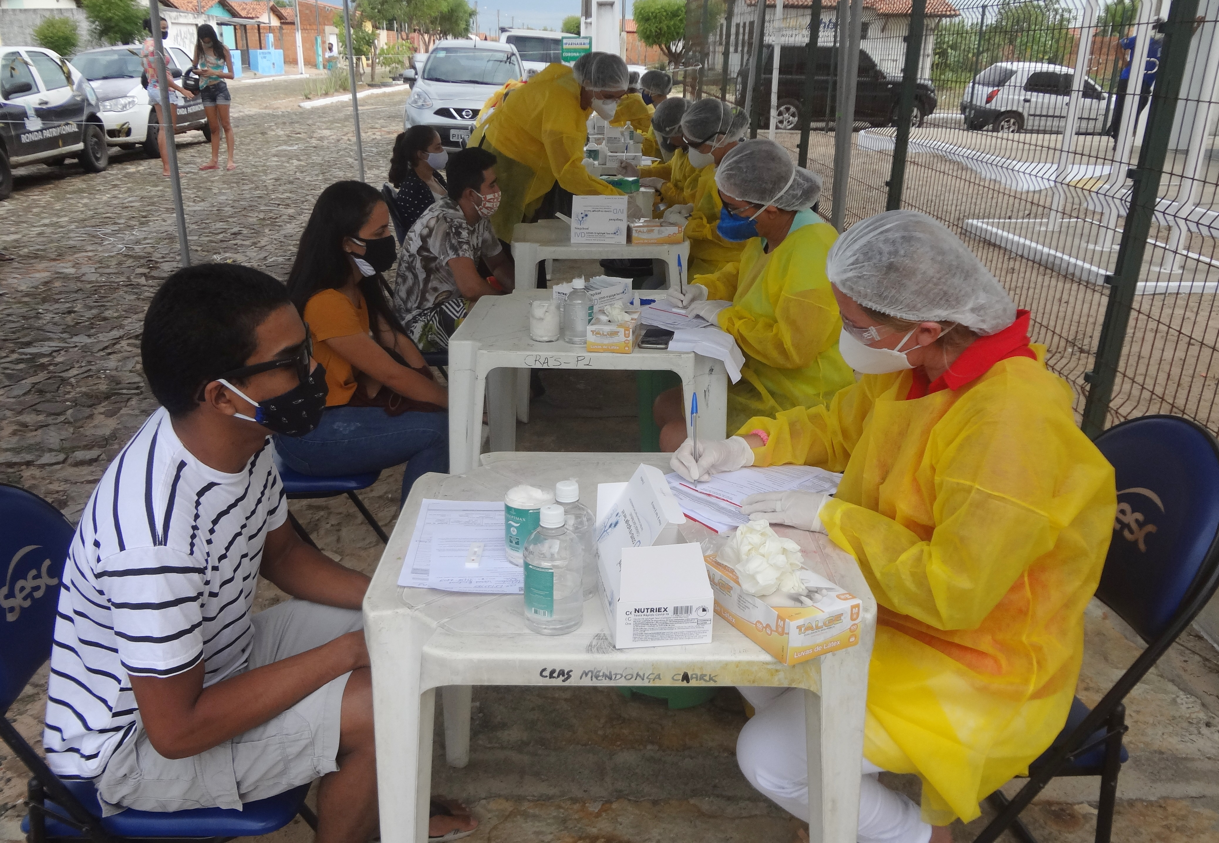 Mutirão de testagem de Covid-19 da Prefeitura de Parnaíba atende moradores dos populosos conjuntos Dom Rufino e Broderville