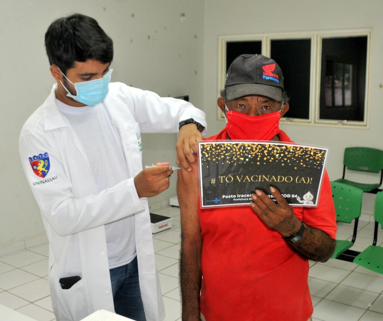 Prefeitura de Parnaíba avança no cronograma de vacinação contra a Covid-19