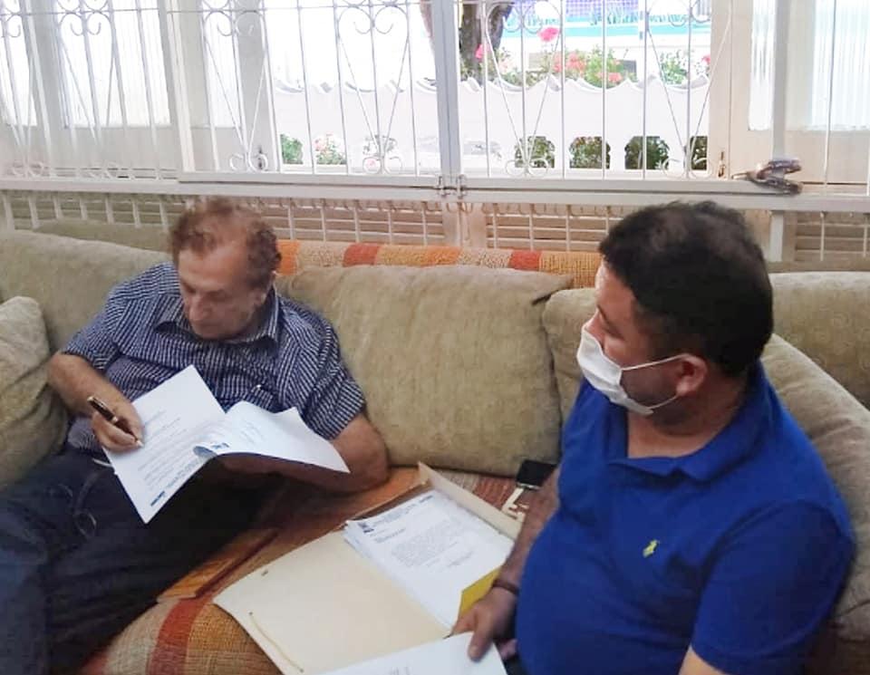 Prefeito Mão Santa despachou com Secretário de Governo e com técnico da Educação para tratar da construção de quadra esportiva e do processo de aposentadoria de servidores